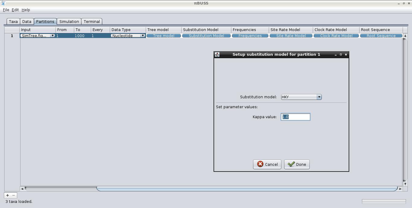 πBUSS: BEAST/BEAGLE Utility for Sequence Simulation