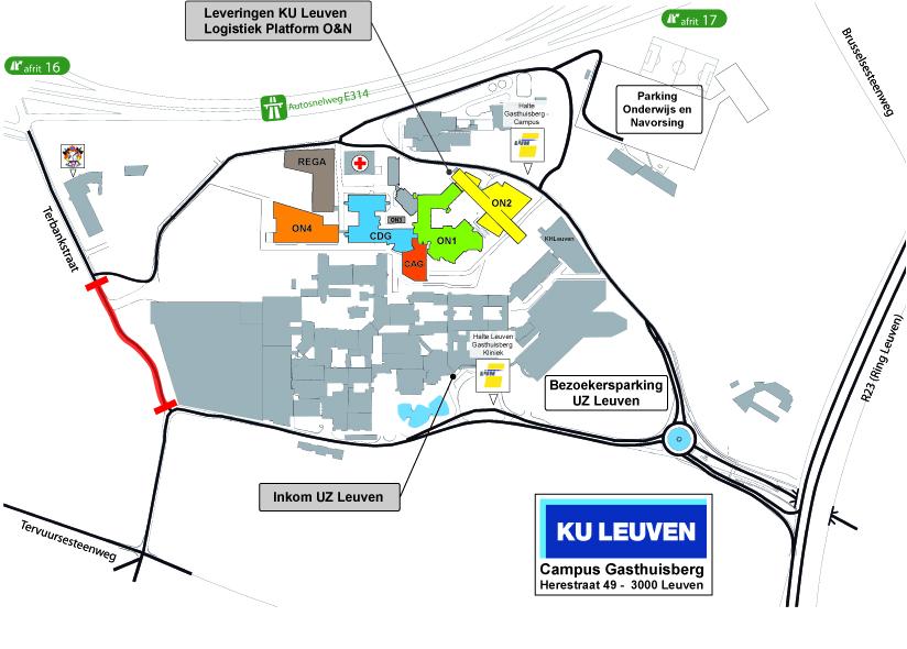 ku leuven campus map Campus Ghb Basisplan Rega Institute Ku Leuven ku leuven campus map
